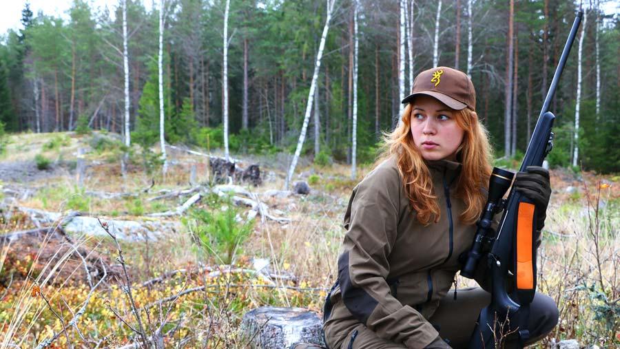 Alexandra Hellström, chasseuse suédoise.