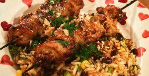 Blog browning - Recette : Brochettes de faisan au satay