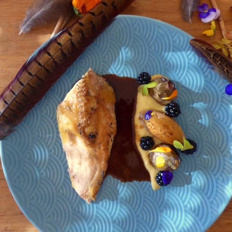 Browning blog : recette de Clément, suprême de faisan, artichaut, mure